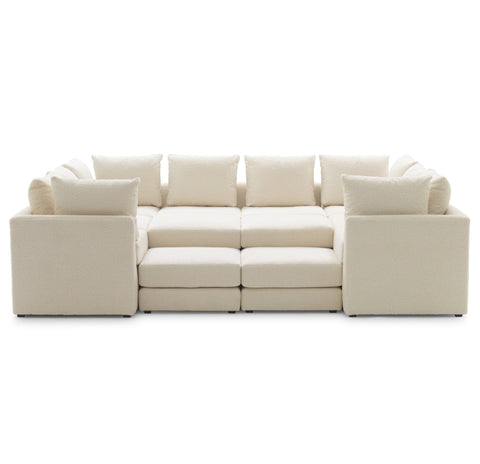 7 PIECE SECTIONAL SOFA IN SHERPA