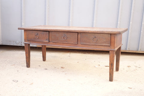 Large French Serving table with three drawers