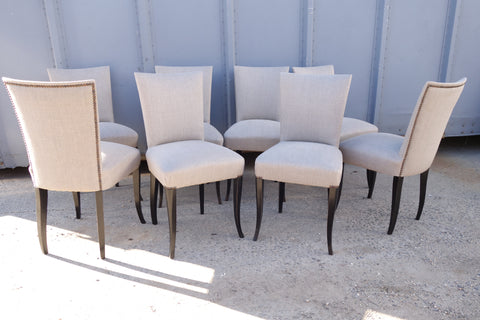 Set of 8 1940's dining chairs