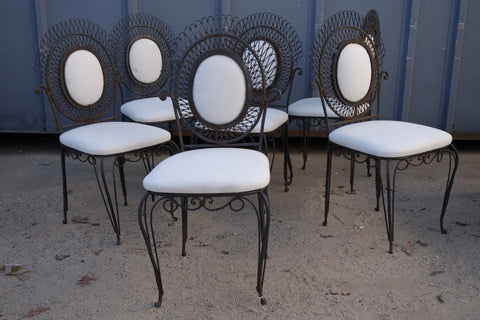 French Wire Armchairs