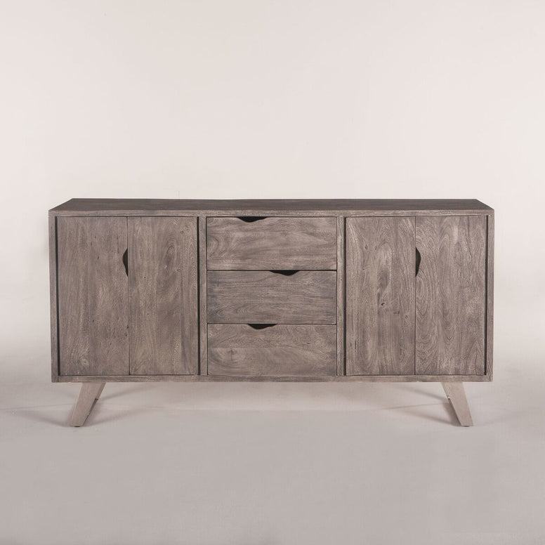 Grey Wash Hardwood Sideboard