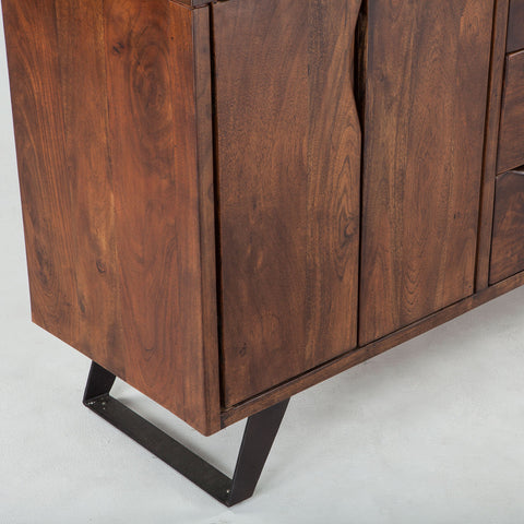 Mid Century Style Walnut Sideboard - Hamptons Furniture, Gifts, Modern & Traditional