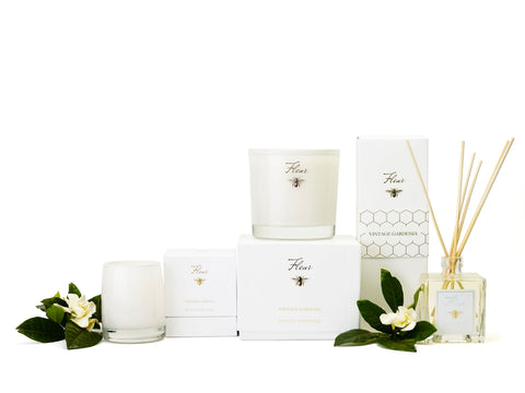 Best Selling Gardenia single wick candle in white glass