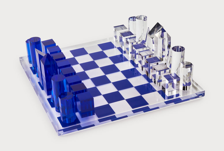 Acrylic Game Sets of Chess & Backgammon