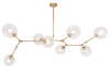 Modern Vine Chandelier in Two Sizes and three finishes