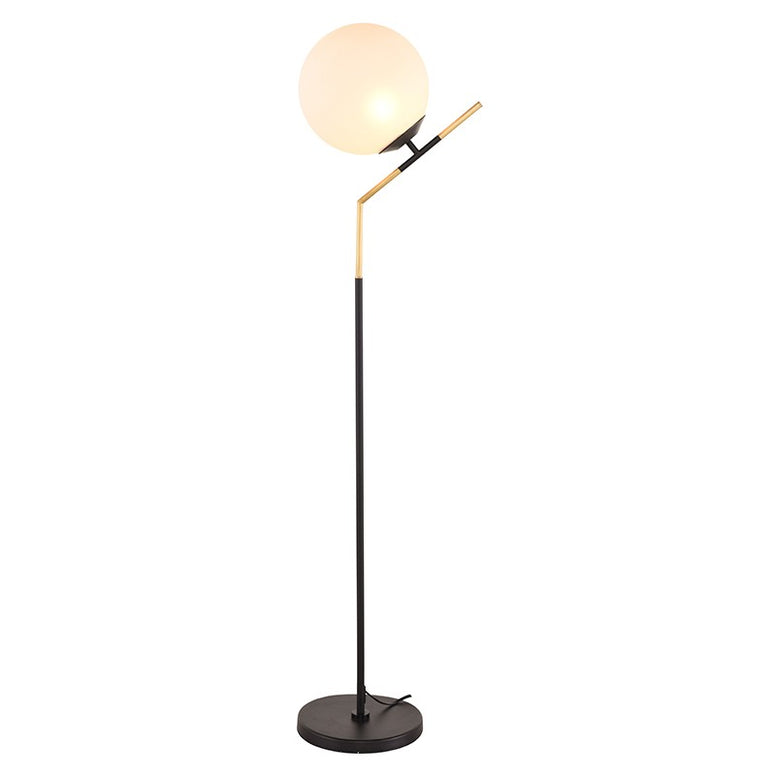 Modern Floor Lamp with Globe