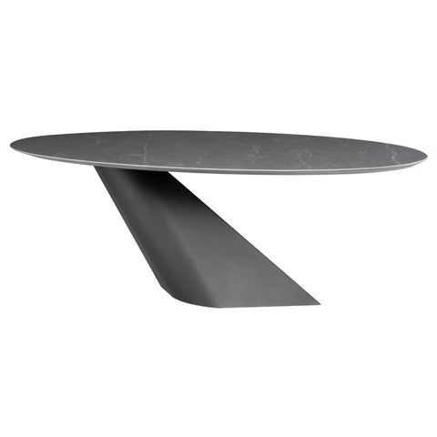 Cantilevered Dining Table with Wood Top