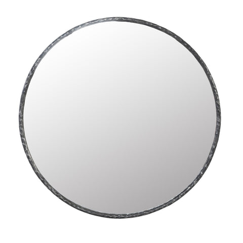 "51"" Round Mirror with Hammered Frame"