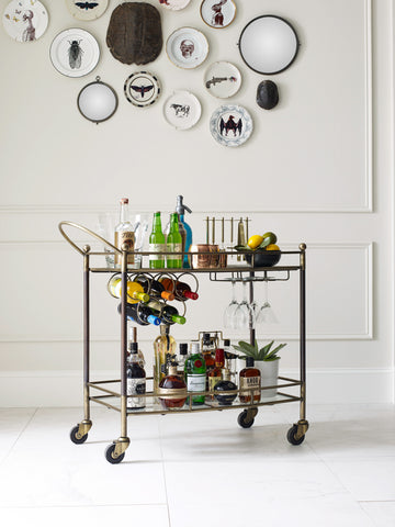 Brass & Copper Bar Cart