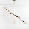 Brass Linear chandelier