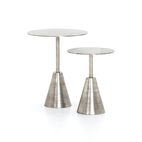 Nesting Tables in Raw Antique Nickel - Hamptons Furniture, Gifts, Modern & Traditional