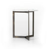 Brass & Marble Side Table - Hamptons Furniture, Gifts, Modern & Traditional