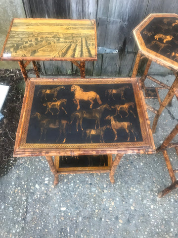 Bamboo Tables with Decoupage - Hamptons Furniture, Gifts, Modern & Traditional