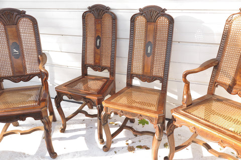 Set of 4 French C1900 dining chairs