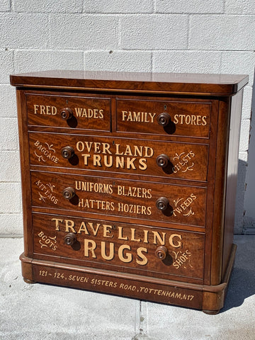 Old English Dresser With Later Painted Advertising