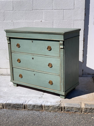 French Dresser, later painted in Blue, c 1890