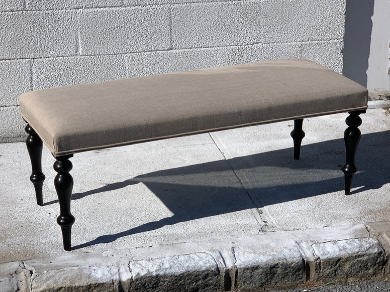 English Made Bench with  dark Antique Legs - Hamptons Furniture, Gifts, Modern & Traditional