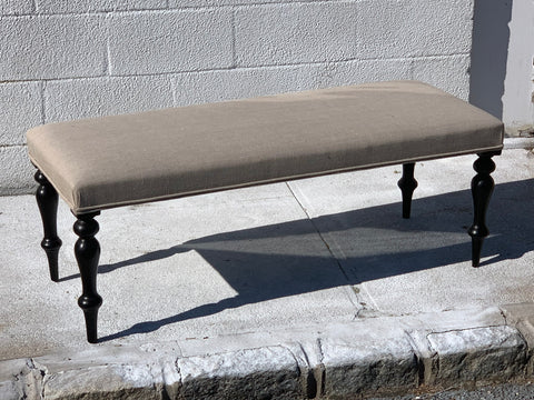 English Made Bench with  dark Antique Legs