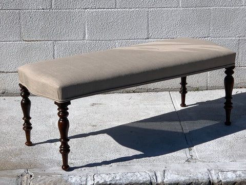 English Made Bench with Antique Legs - Hamptons Furniture, Gifts, Modern & Traditional