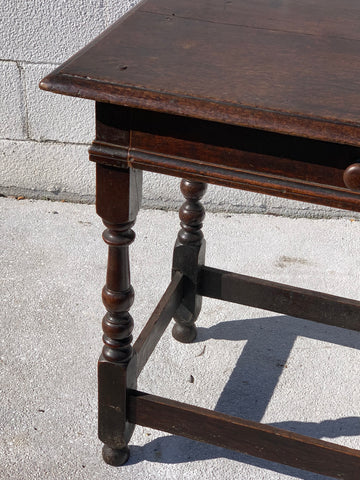 English 19th C Hall/En Table in Oak - Hamptons Furniture, Gifts, Modern & Traditional
