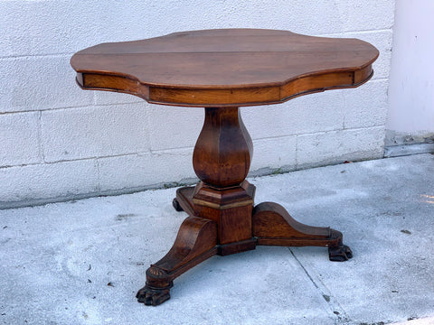 Pedestal Table in Oak. c 1860