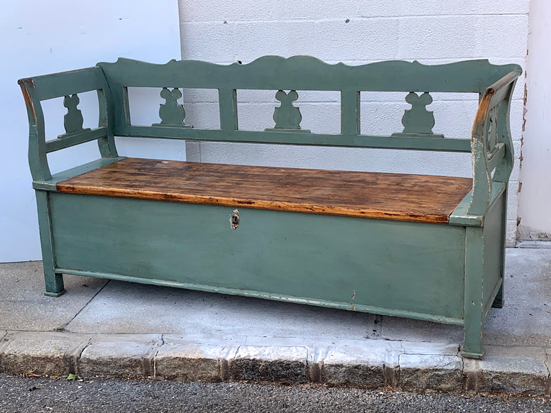 Painted Swedish Bench - Hamptons Furniture, Gifts, Modern & Traditional