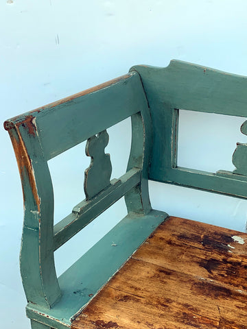 Painted Swedish Bench