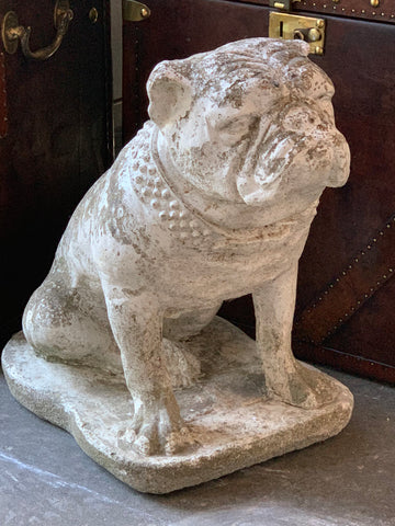English Stone Bulldog Statue - Hamptons Furniture, Gifts, Modern & Traditional