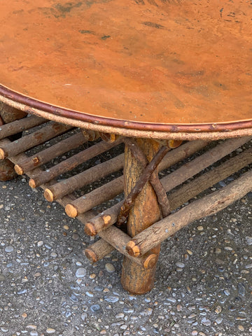 Adirondack Style Coffee Table with Copper Top - Hamptons Furniture, Gifts, Modern & Traditional