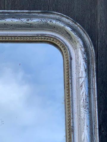 Antique Mirror in Silver Gilt with Original Glass
