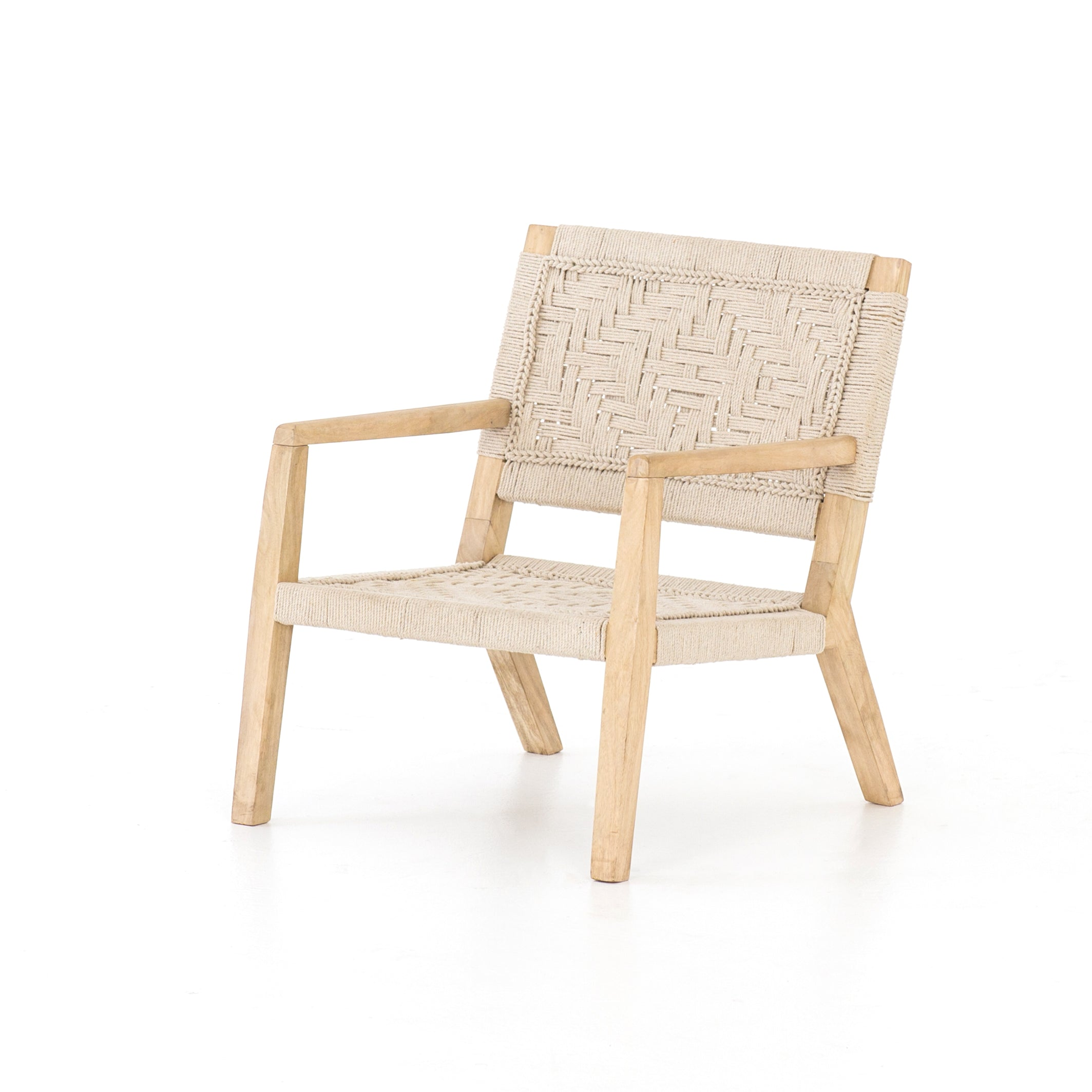 Low Side Chair With Woven Seat And Back English Country Home