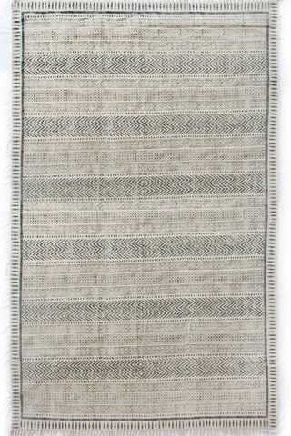 Faded Pattern Flatweave Rug