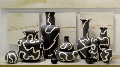 Contemporary Chinese Ceramic Vases - Hamptons Furniture, Gifts, Modern & Traditional