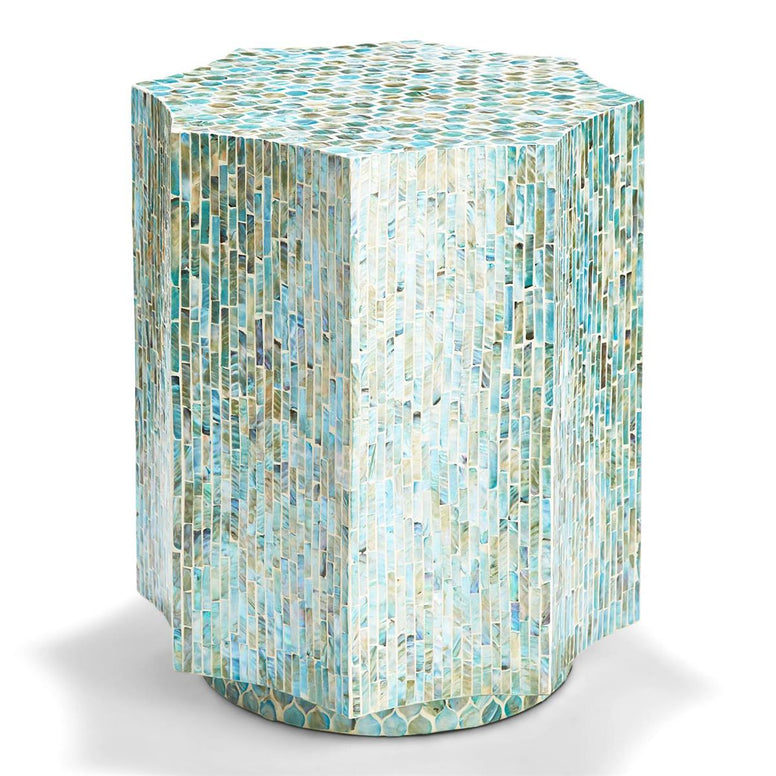 Turquoise Octagon Side Table or Stool - Hamptons Furniture, Gifts, Modern & Traditional