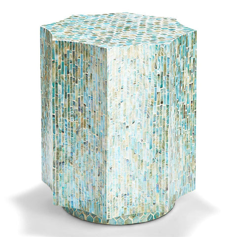 Turquoise Octagon Side Table or Stool