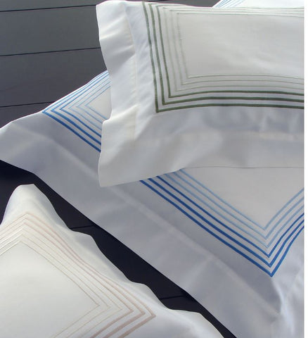 DEA Embroidered Linens; Milano - Hamptons Furniture, Gifts, Modern & Traditional