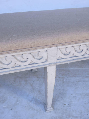 Carved Swedish Bench