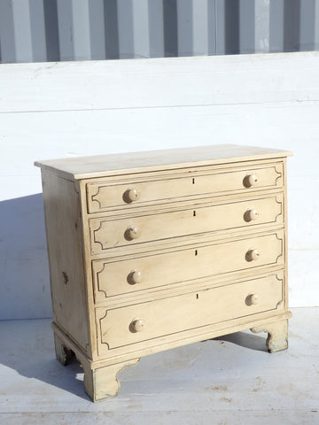 Painted English Antique Chest of Drawers - Hamptons Furniture, Gifts, Modern & Traditional