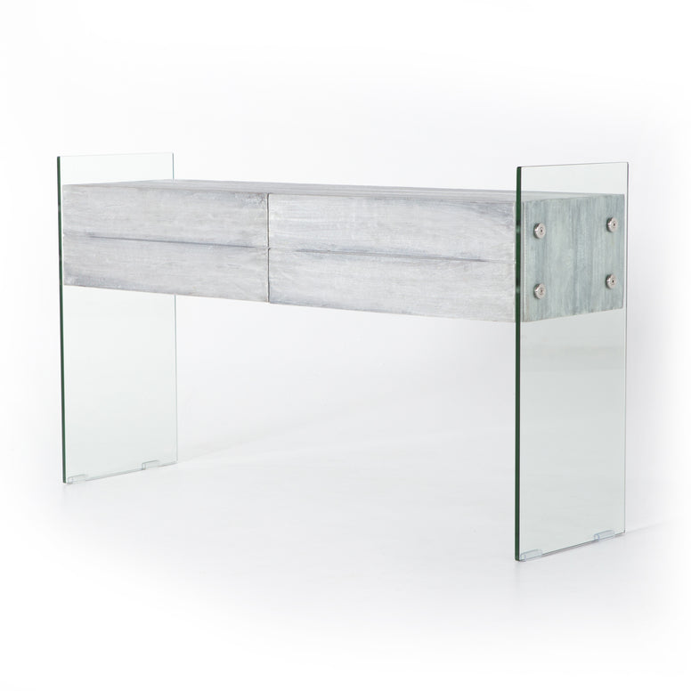 Modern Greywashed Console - Hamptons Furniture, Gifts, Modern & Traditional