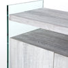Modern Grey Wood Sideboard with Tempered Glass