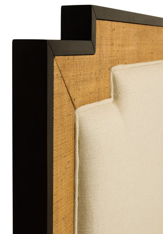 Queen Size Headboards in Grasscloth - Hamptons Furniture, Gifts, Modern & Traditional