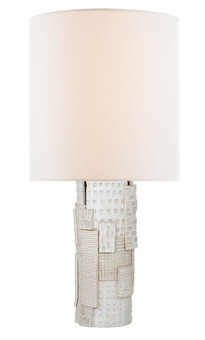 Pastiche Large Table Lamp in Black with Linen Shade