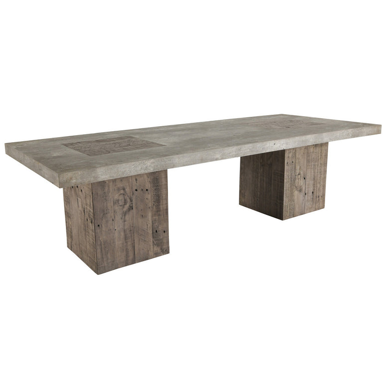 Rustic Coffee Table, block pedestal bases in reclaimed wood