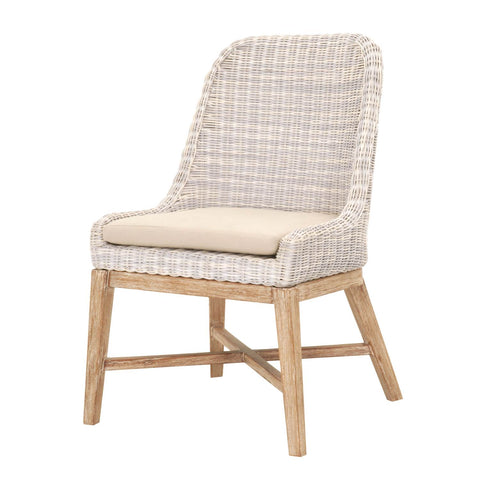 Outdoor Dining Chair with Mahogany Base