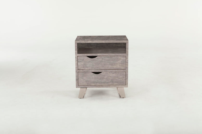 Grey Wash finish nightstand - Hamptons Furniture, Gifts, Modern & Traditional