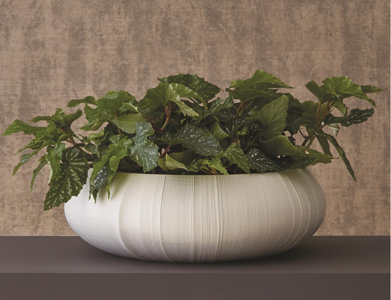 Large Table Top Bowl with Linen Texture