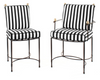 Outdoor Dining Chairs in Stainless Steel/Black