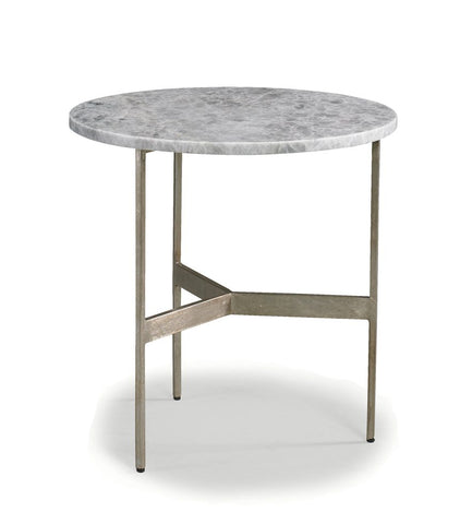 Simple 3 Legged Side Table with Quartz Top