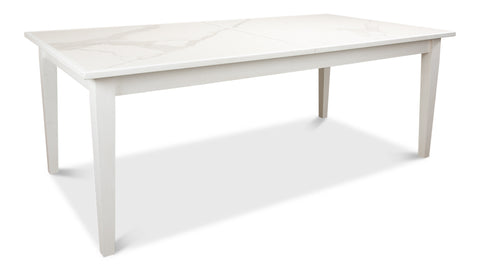 White Porcelain Top Butterfly Dining Table