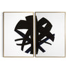 Black & White Abstract Circle - Hamptons Furniture, Gifts, Modern & Traditional